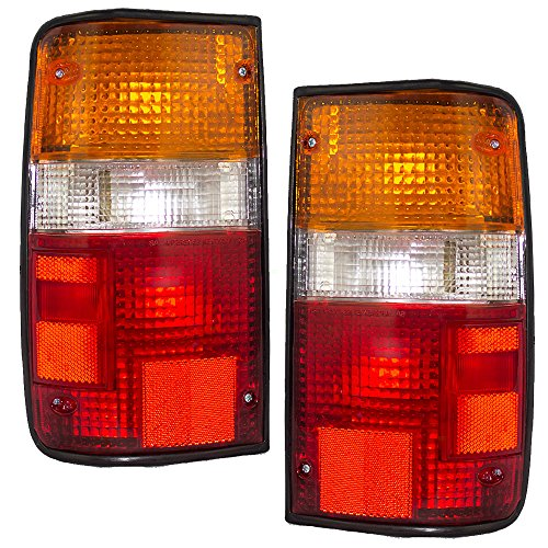 Taillights Tail Lamps Driver and Passenger Replacements for 89-95 Toyota Pickup Truck 8156089166 ()