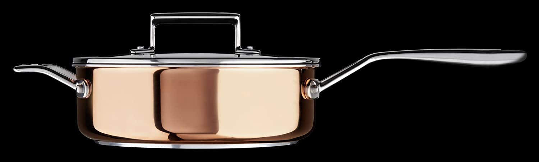 KitchenAid KC2P35EHCP Tri-Ply Copper 3.5 quart Saute with Helper Handle /& Lid Satin Copper Medium
