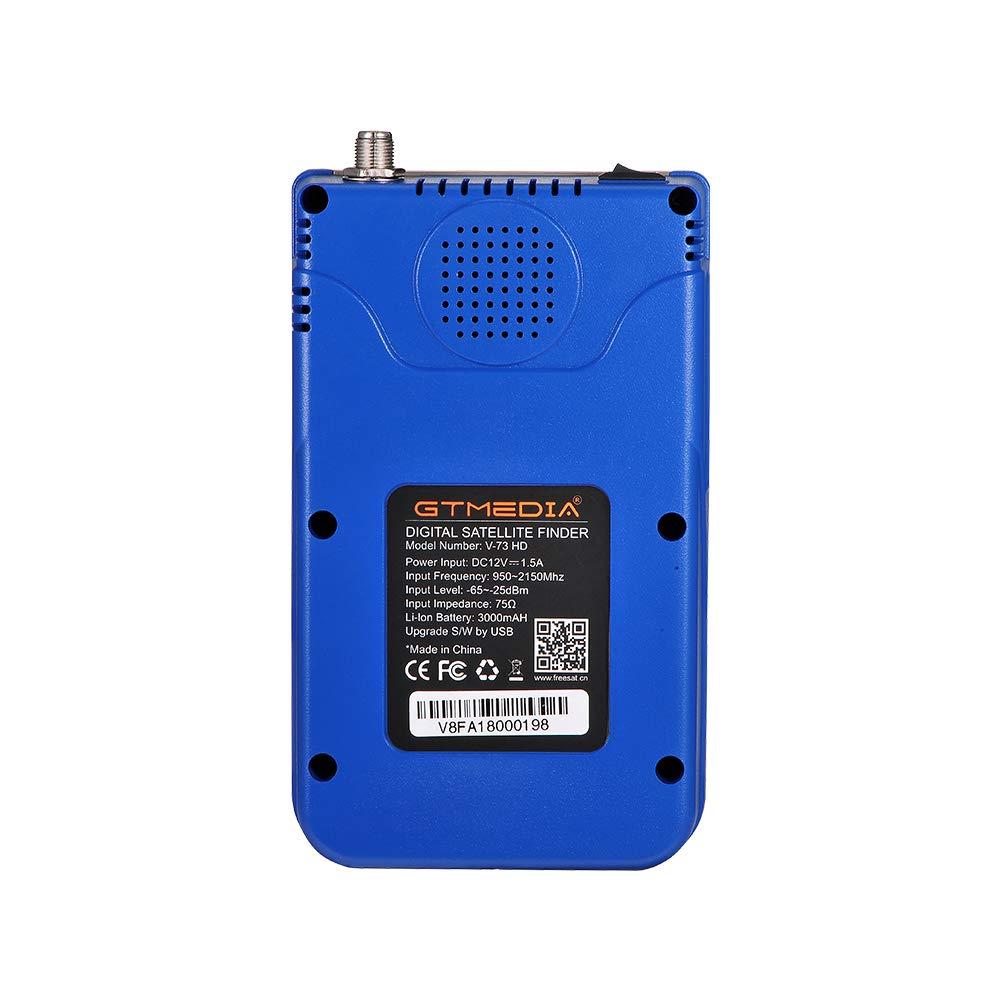 JUSHENG Newest GTMEDIA V8 Finder Digital Satellite TV Signal Finder Meter (V-73HD) DVB-S2 FTA LNB Signal Meter Pointer Satellite TV Receiver Tool with 3.5' LCD by JUSHENG (Image #6)