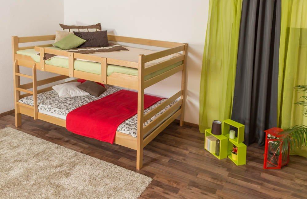Etagenbett für Erwachsene Easy Premium Line  K16 n, Kopf- und Fußteil gerade, Buche Vollholz massiv Natur - Liegefläche  160 x 200 cm, teilbar