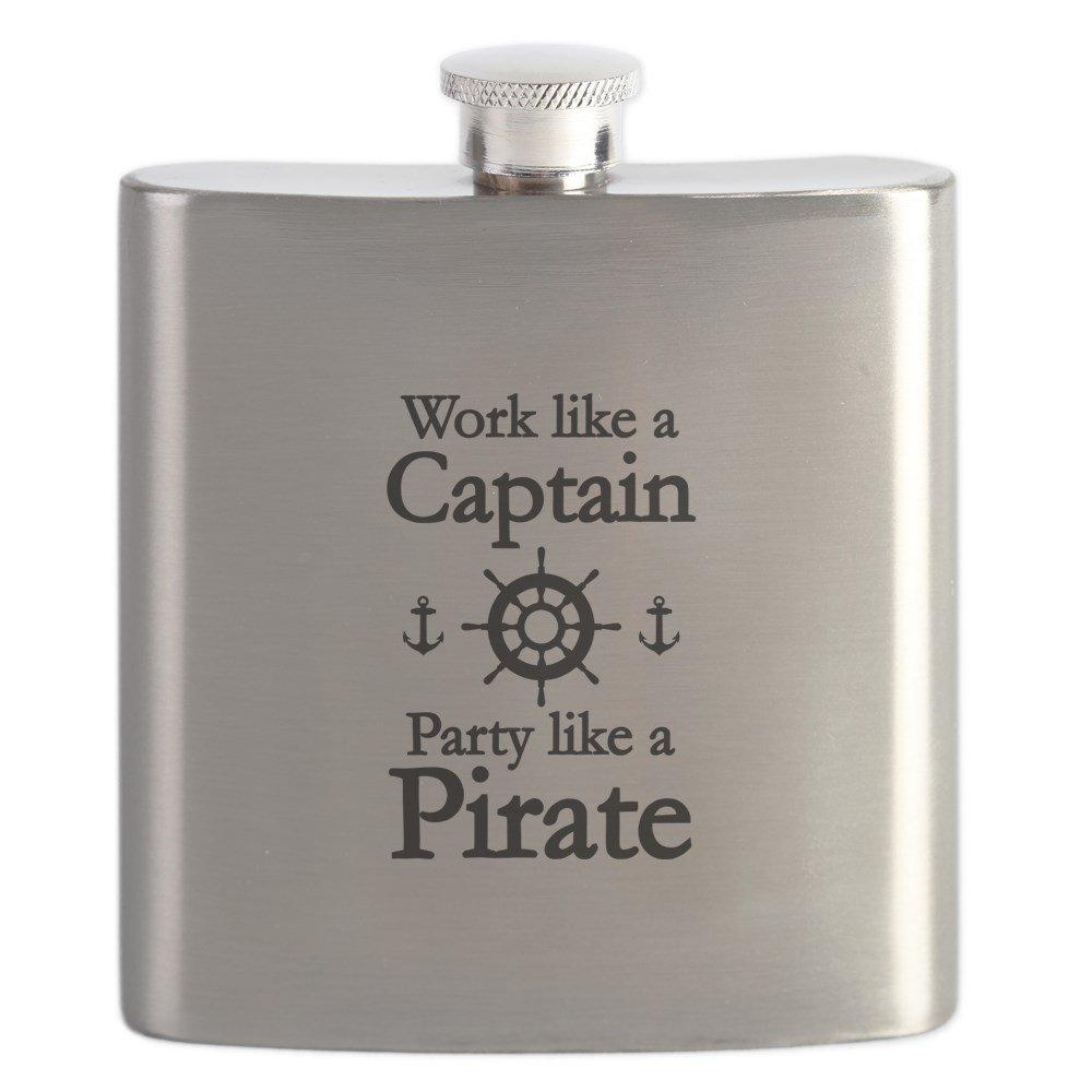【おトク】 CafePress Pirate – Work Like AキャプテンParty a Like a Pirate – Work ステンレススチールフラスコ、6オンスDrinkingフラスコ B01IUFOXQ8, 笠松町:a63e0636 --- a0267596.xsph.ru