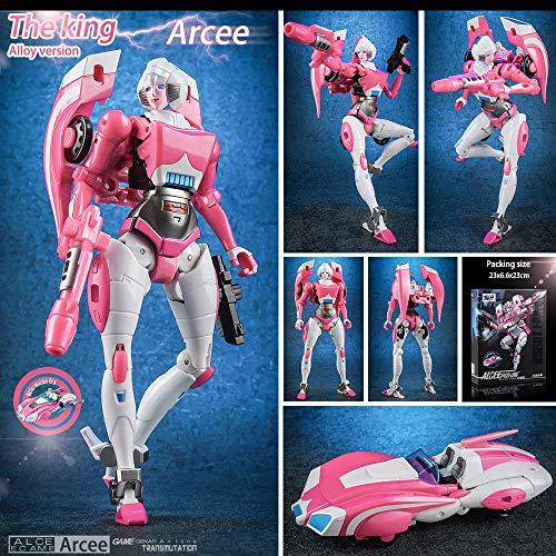 hyhellokull Transformers 4 Legends Fans Toy FT-24 Rouge G1 Arcee [KO Version] Female Warrior Action Figure New Car Robot Model -