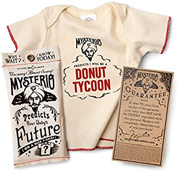 43950b79a Amazon.com: Mysterio Baby Tee by Wrybaby | Predicts Your Child's ...