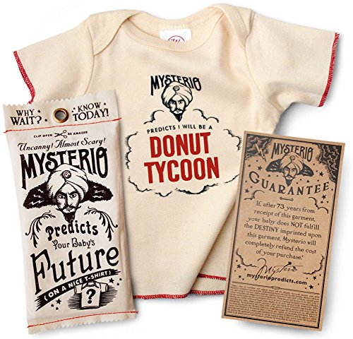 Mysterio Baby Tee by Wrybaby | Predicts Your Child's Future | Natural, 0-12M ()