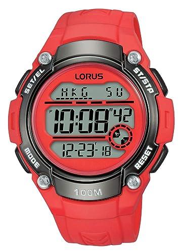 Lorus Reloj Digital para Mujer de Cuarzo con Correa en Silicona R2343MX9: Amazon.es: Relojes