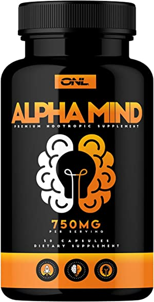 Alpha Mind Premium Nootropic Brain Booster Supplement - Enhance Focus, Boost Concentration, Improve Memory & Reduce Anxiety - Mental Enhancement Pills for Neuro Energy & IQ - 1 Month Supply