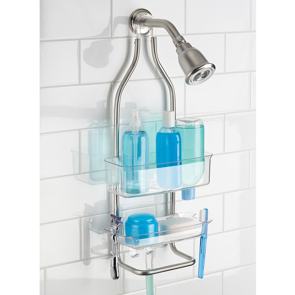 Amazon.com: InterDesign Zia Rustproof Aluminum Shower Caddy ...