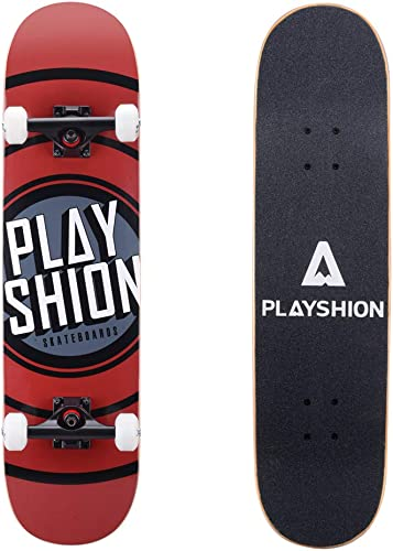 Playshion 31 Inch Trick Skateboard Complete for Kids and Adults Beginners