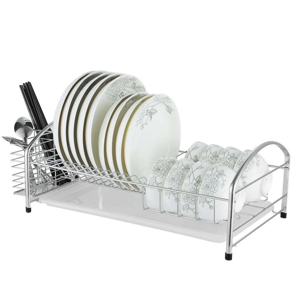 Stainless Steel kitchen Storage Basket ,Cutlery Drainage Rack - Tableware And fork Cups Can Be Safely Placed.