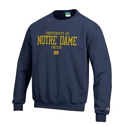 3eac1ea245d8 Elite Fan Shop University of Notre Dame Fighting Irish Crewneck Sweatshirt  Navy - M