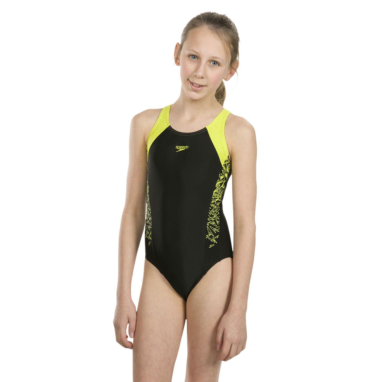 Speedo Girls Boom Splice Muscleback Swimsuit Amazoncouk Sports