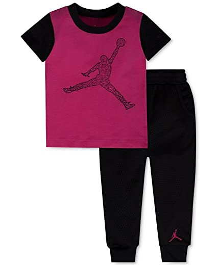 75dc22e53a6 Amazon.com: Jordan Baby Boys' 2 Piece T-Shirt & Mesh Jogger Pants ...