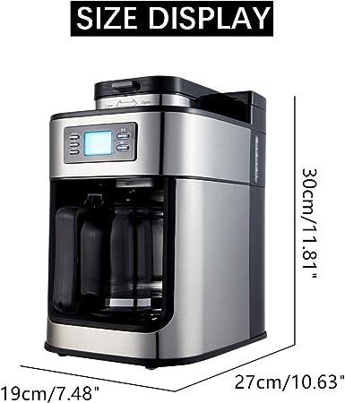 ZQALOVE 220V 1200 ml cafetera eléctrica de la máquina Completamente automática de Hogares de Goteo Cafetera Cafetera aplicación de Cocina 1000W: Amazon.es: Hogar