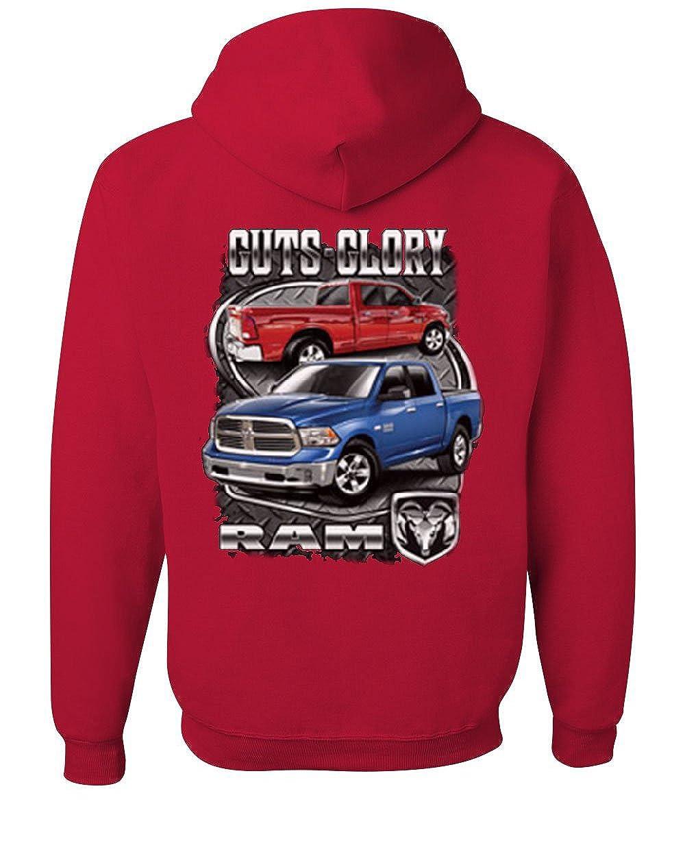 Tee Hunt Dodge Ram Guts Glory Hoodie Dodge Truck Licensed Sweatshirt 100490-S-S-BLK-$P