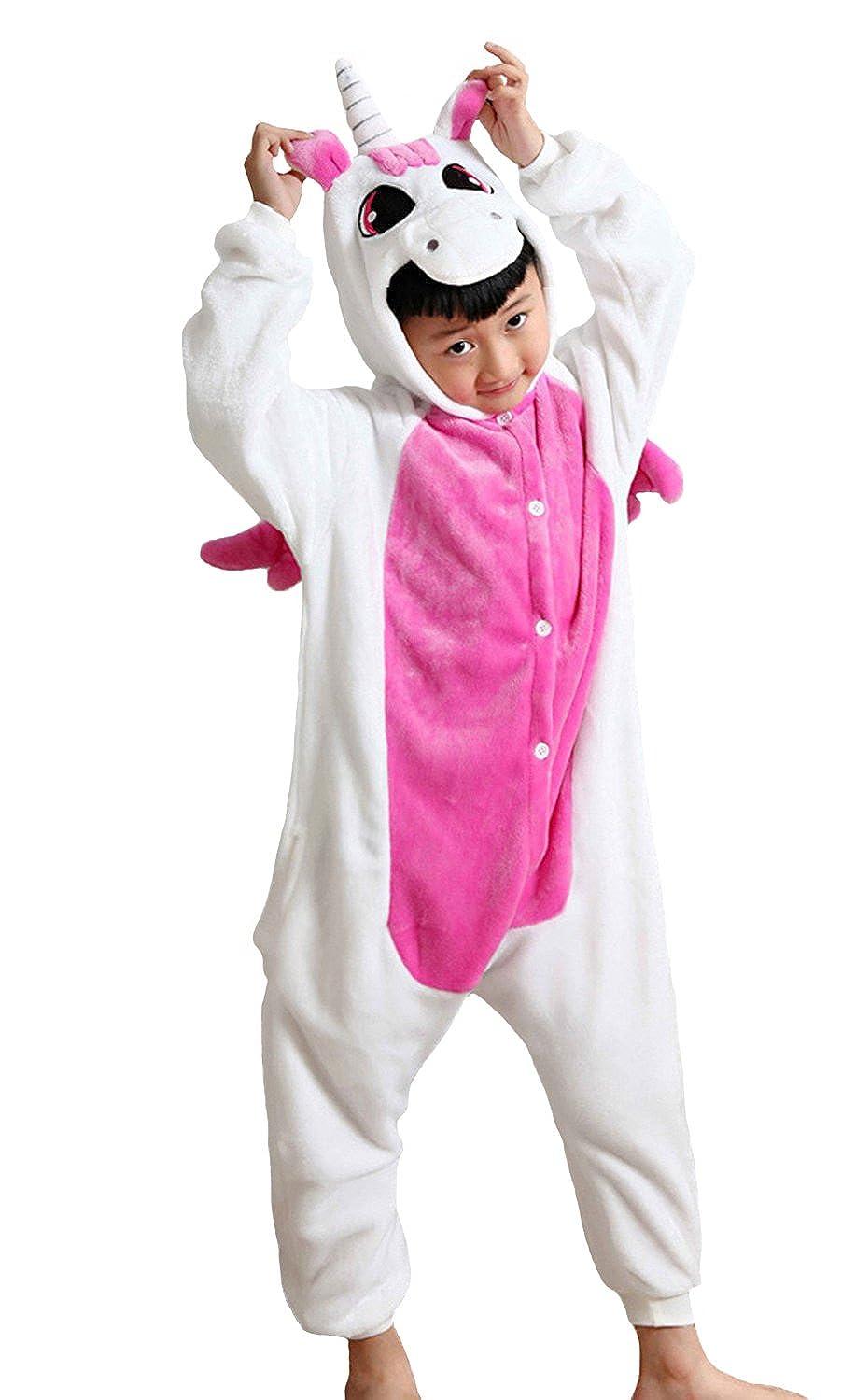 Irypulse bambini tuta tuta flanella tutina pigiama bambini Costumi Cosplay Ragazzi ragazze animale vestito