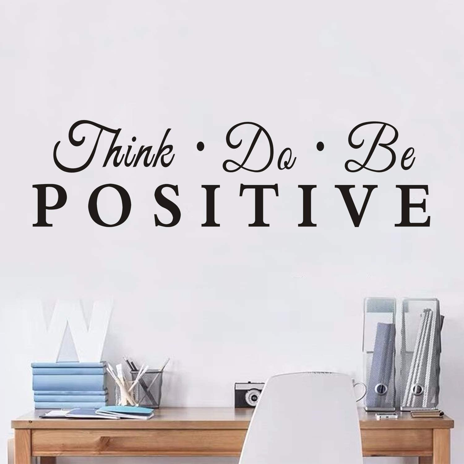 AnFigure Quote Wall Decals, Gym Wall Decals, Inspirational Office Classroom Bedroom Motivational Workout Exercise Sport Life Boy Girls Teen Vinyl Art Home Decor Stickers Think do be Positive 26