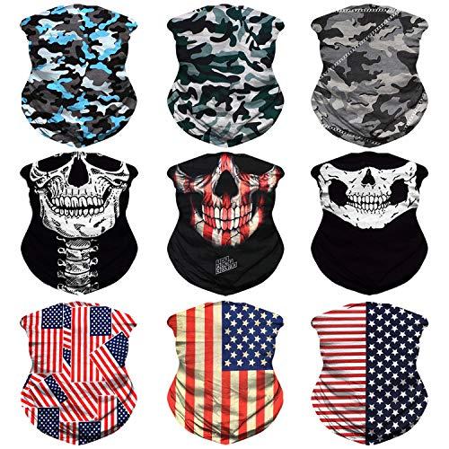 (JOEYOUNG Headwear, Bandana, Neck Gaiter, Head Wrap, Headband for Men and Women, Multifunctional Head Scarf, Face Mask, Balaclava, Magic Scarf, Sweatband for Fishing, Yoga, Motorcycling)