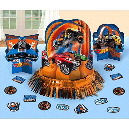 (Hot Wheels Wild Racer Table Decorating Kit, Party Favor (Renewed))