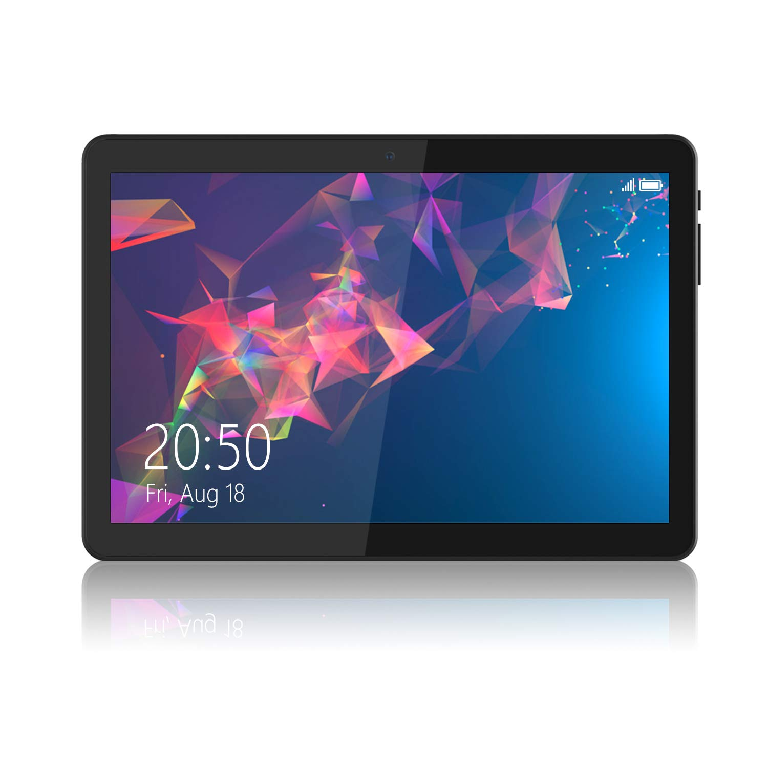 Android Tablet 10 Inch, Phablet Unlocked 3G [Android Go 8.1] [GMS Certified] 10 Inch Tablet with Dual Sim Card Slots and Cameras, 1280 x 800 IPS, 16GB, Bluetooth, WiFi, GPS, OTG (Black)