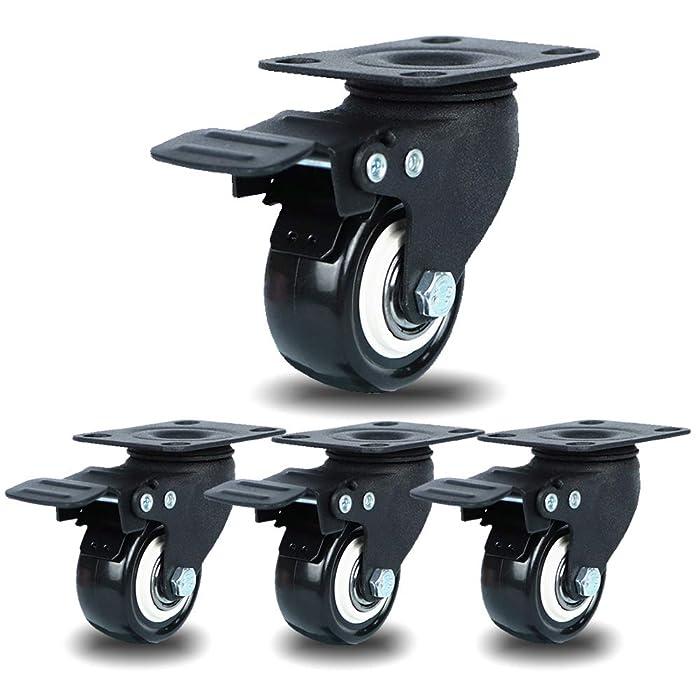 Top 9 2 Dual Swivel Plate Black Furniture Casters