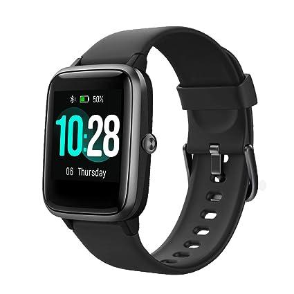 TOOBUR Smartwatch, IP68 Impermeable Reloj Inteligente con Pulsómetro, 1.3 Pulgada Pulsera Actividad Inteligente con Podómetro Monitor de Sueño, Reloj ...