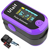 Finger Pulse Oximeter Fingertip, Portable Blood Oxygen Saturation Monitor for Heart Rate and SpO2 Level, Pulse Ox…