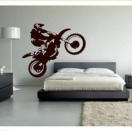 Mrhxly Motocross Vinile Adesivo Moto Moto Wall Art Dirt Bike Sport ...