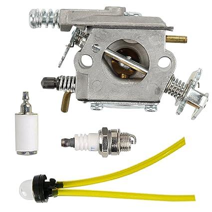 Amazon Com Hilom Carburetor With Primer Bulb Fuel Filter Fuel Line