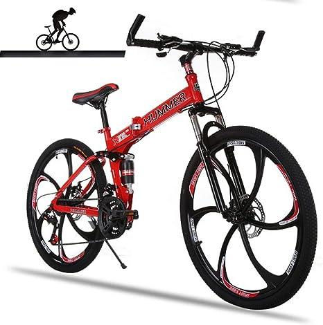 WZB Bicicleta de montaña con suspensión Completa. Cuadro de ...