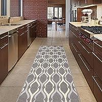 Diagona Designs ANN1089B-2X6 Area Rug, 22 x 60, Trellis Charcoal Grey