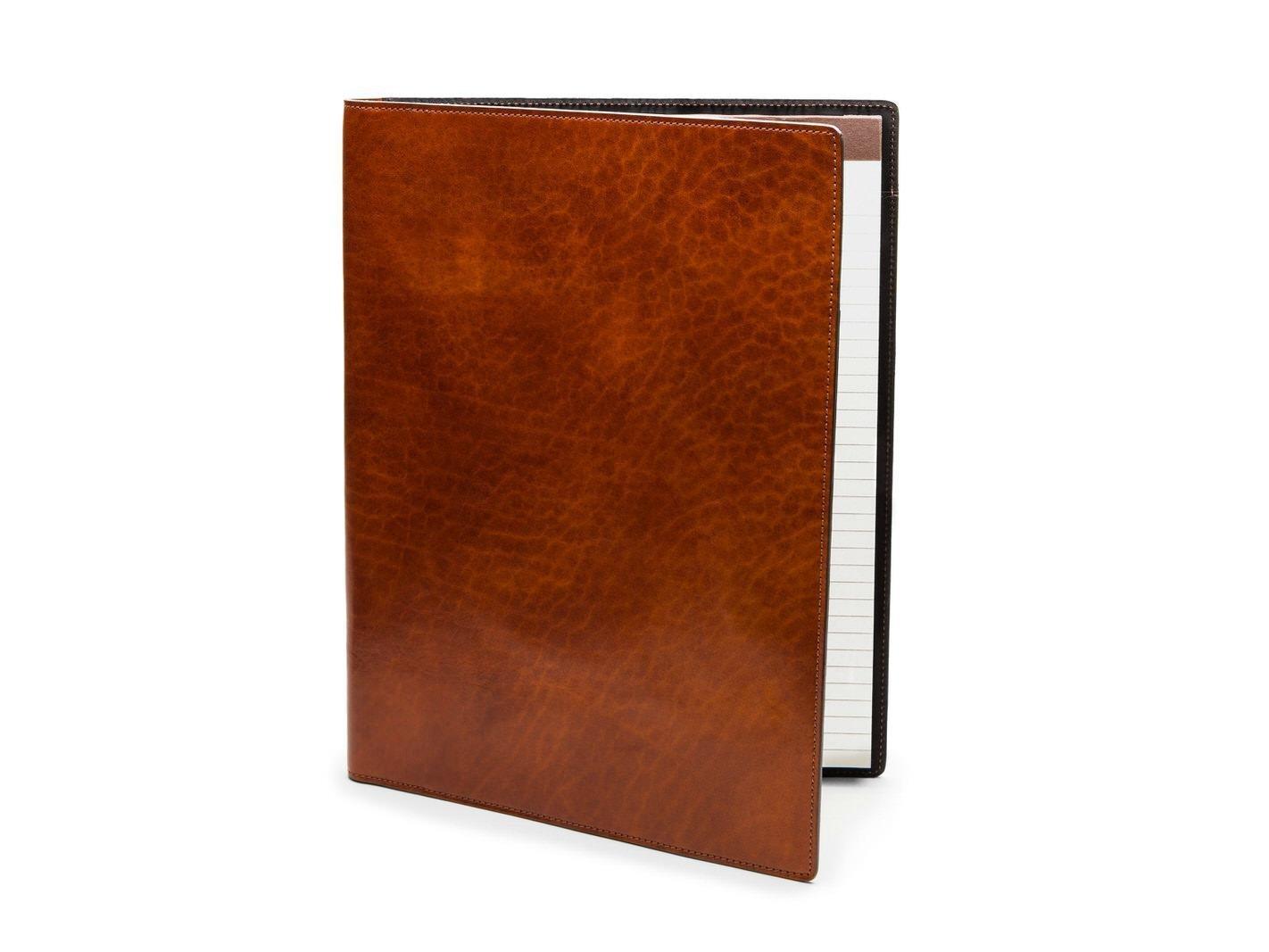 Bosca Dolce Flexible Leather Portfolio 8.5x11 (Amber)