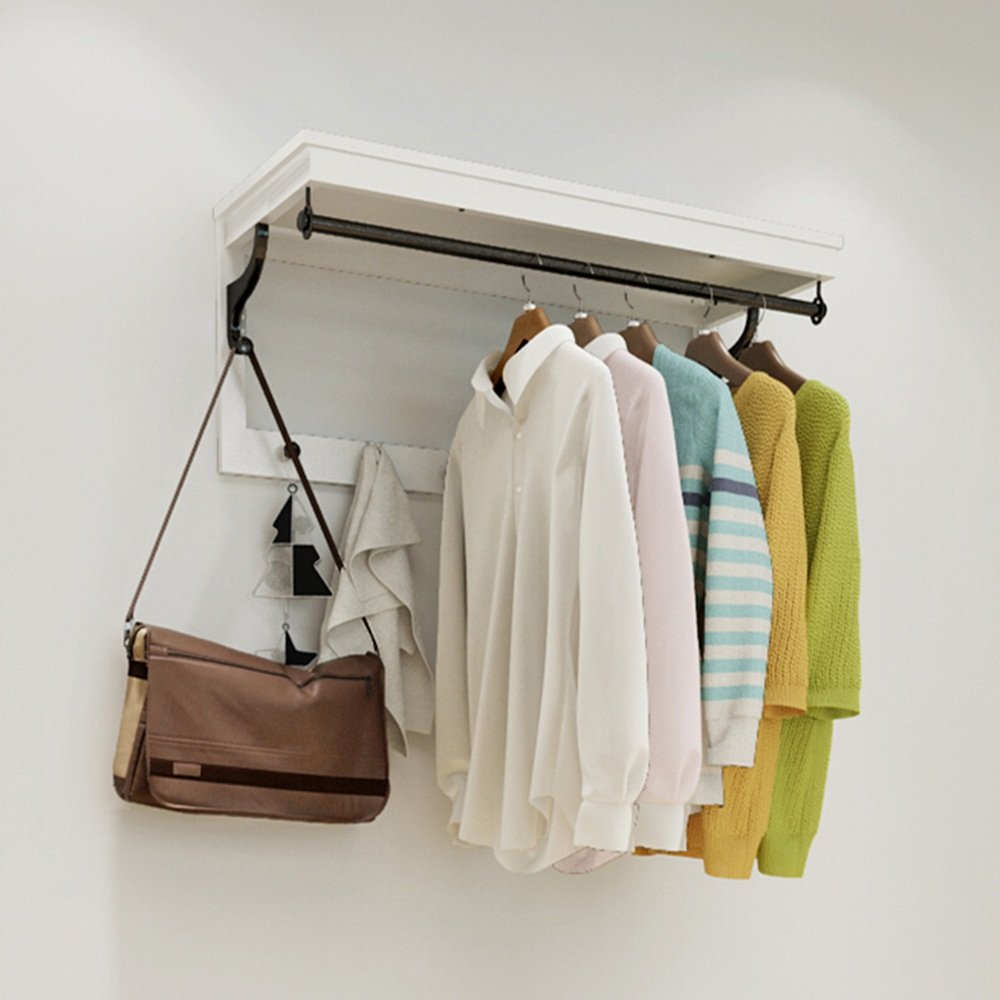 Simple Hook / Coat Rack / Wall Hanging / Wall Hanging Hanger / Hanging Hanger / Door Frame Wall Hook / Set Hook Hook White Brown ( Color : White )