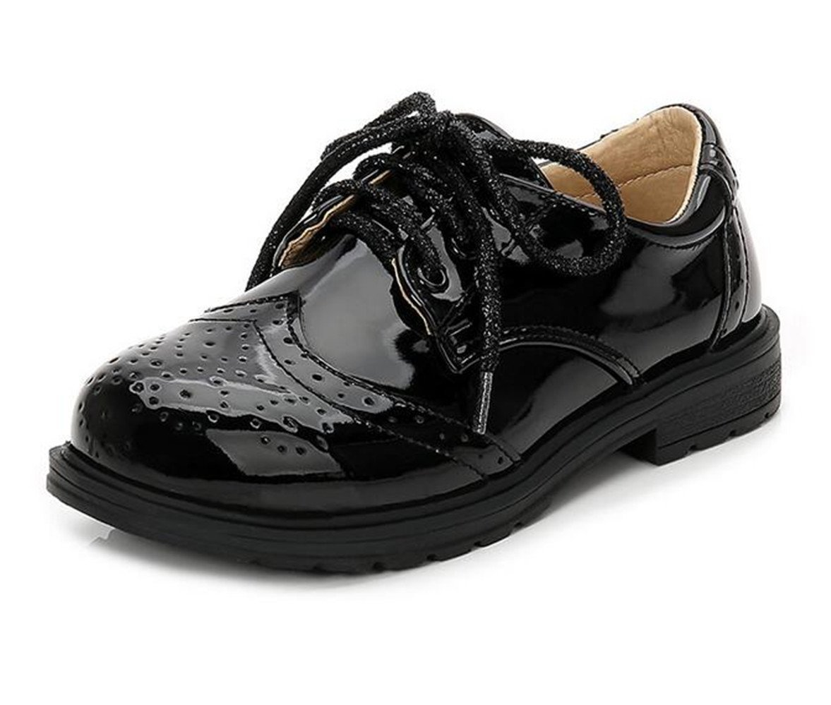 Bumud Children's Boy's Girl's Classic Dress Comfort Oxford Schooling Daily Walking Shoes(Toddler/Little Kid/Big Kid) (11 M US Little Kid, Black)