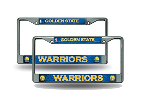 b1a2acf5b1afe5 Amazon.com: Rico Golden State Warriors NBA Chrome Metal (2) License ...