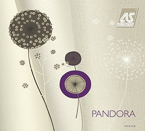 PANDORA - Modern Luxury Floral Flower Modern Red, Black Wallpaper Roll Wall Decor by A.S. Creation (Image #2)
