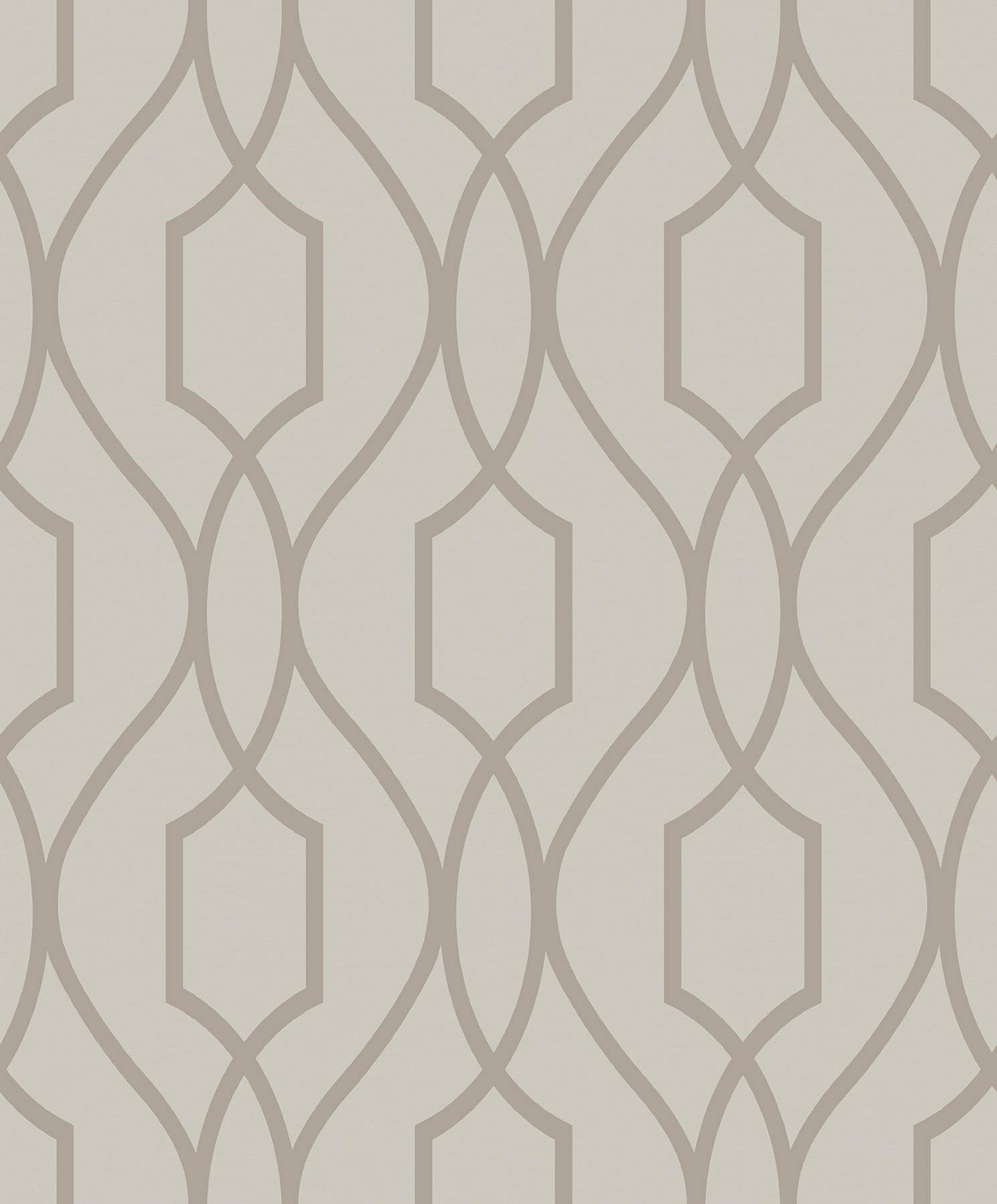 Advantage 2809-87713 Evelyn Bronze Trellis Wallpaper by Advantage