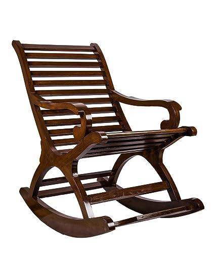 Surprise Interiors Teak Wood Rocking Chair: Amazon.in: Electronics