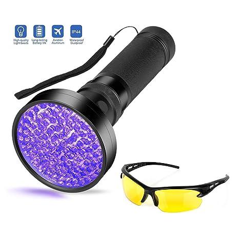 Vansky - Linterna ultravioleta con luz ultravioleta de color negro, 51 LED, para perro