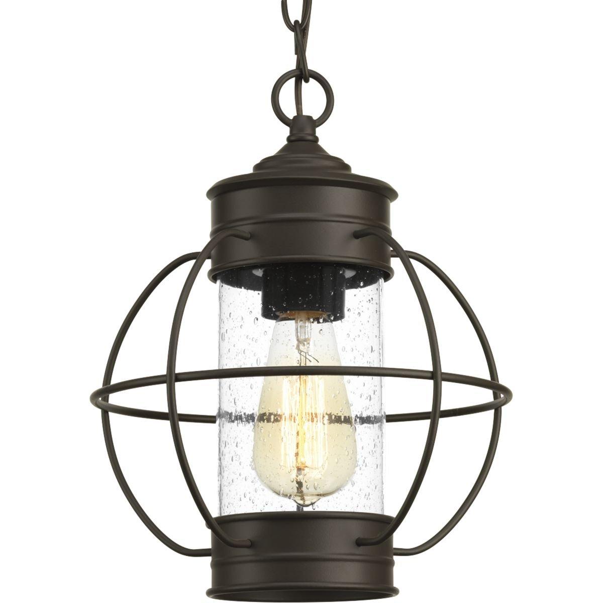 Progress Lighting P550015-020 Haddon Antique Bronze One-Light Hanging Lantern,