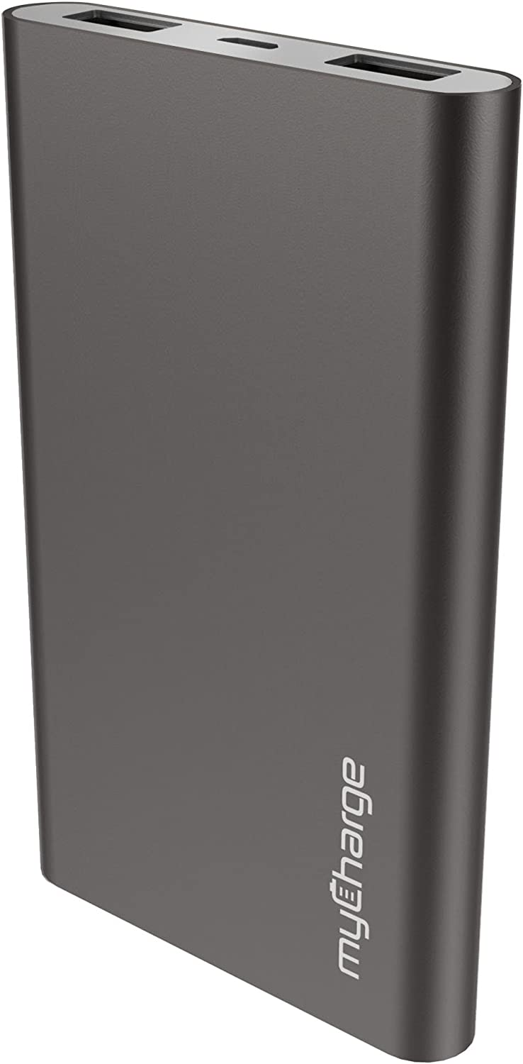 myCharge RazorMax Portable Charger 6000mAh / 2.4A Dual USB Port External Battery Pack Power Bank for Cell Phones (Apple iPhone XS, XS Max, XR, X, 8, 7, 6, SE, 5, Samsung Galaxy, LG, Motorola, HTC)