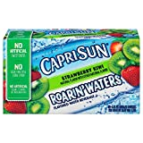 juice boxes bulk - Capri Sun Roarin' Waters Flavored Water Beverage, Strawberry Kiwi, 10 Pouches (Pack of 4)