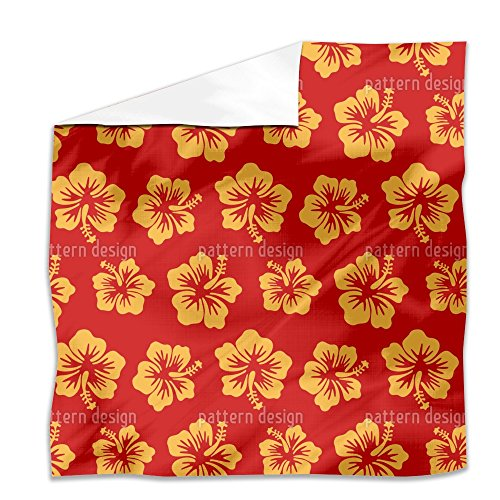 Hibiscus Greetings From Hawaii Flat Sheet: King Luxury Microfiber, Soft, Breathable by uneekee
