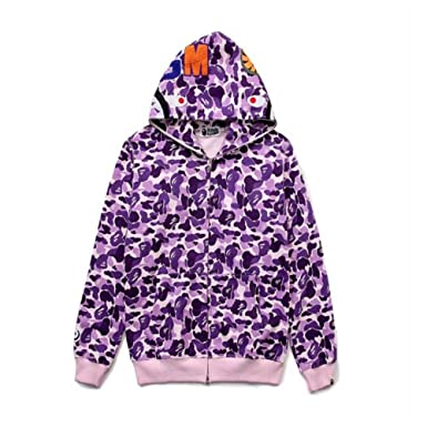 3ad28c965bf6 SongTao Winter Fashion Bape Camo Zip Hoodie for Men Women at Amazon Men s  Clothing store