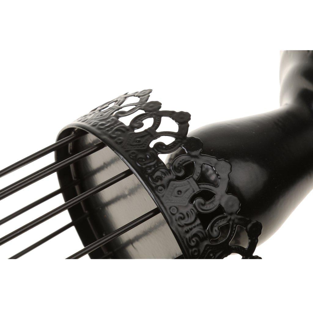 Noir Sharplace Support Porte Bougie Cage Doiseau Bougeoir D/écoratif en M/étal pour Maison Jardin