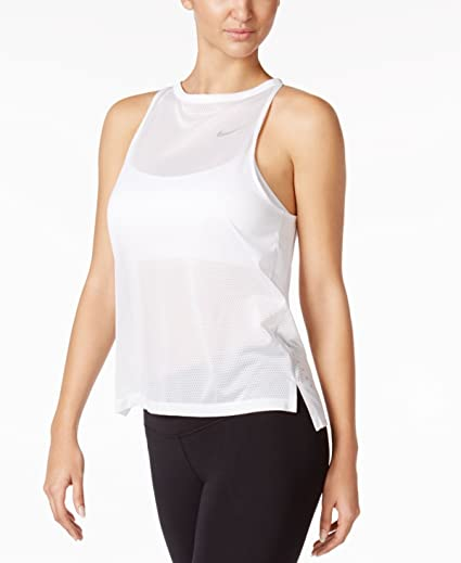 1cd9e0bc2d520 Amazon.com  Nike Womens Breathe Running Fitness Tank Top  Sports ...