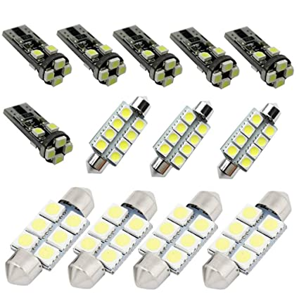 Muchkey Car Led Interior Bulb For Passat 2015-2017 B8 Replacement Car Dome Light Bulb Kit 9pcs White