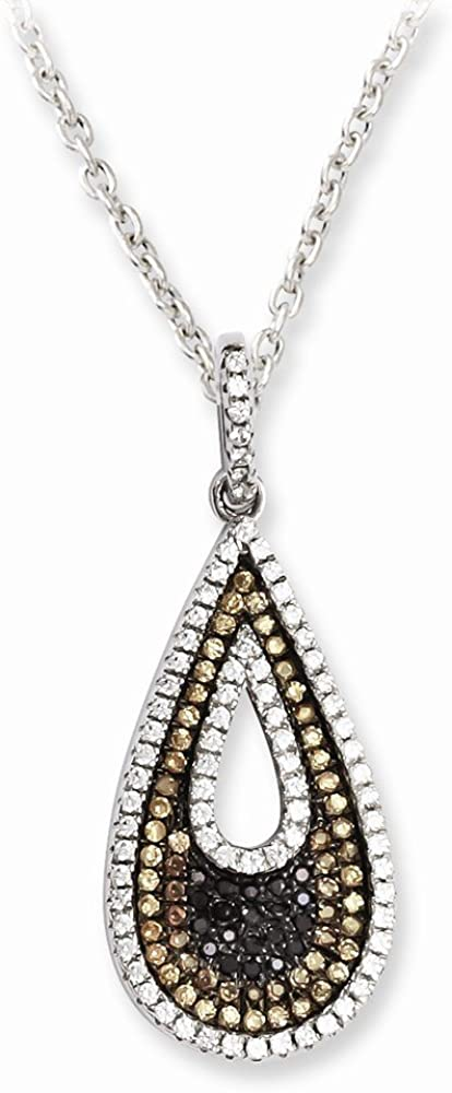 925 Sterling Silver Cubic Zirconia Cz Teardrop Chain Necklace Pendant Charm Fine Jewelry Gifts For Women For Her