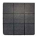 Durable Anti-Fatigue Rubber Floor Mat, Interlocking Commercial Floor Mat 3' x 3' Feet Entrance Mat