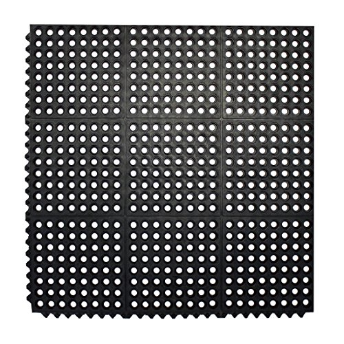 Cheap  Durable Anti-Fatigue Rubber Floor Mat, Interlocking Commercial Floor Mat 3' x 3'..
