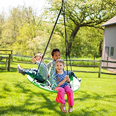 Fat Brain Toys Large Net Swing - Swing-A-Ring - Large Active Play for Ages 3 to 8: Toys & Games